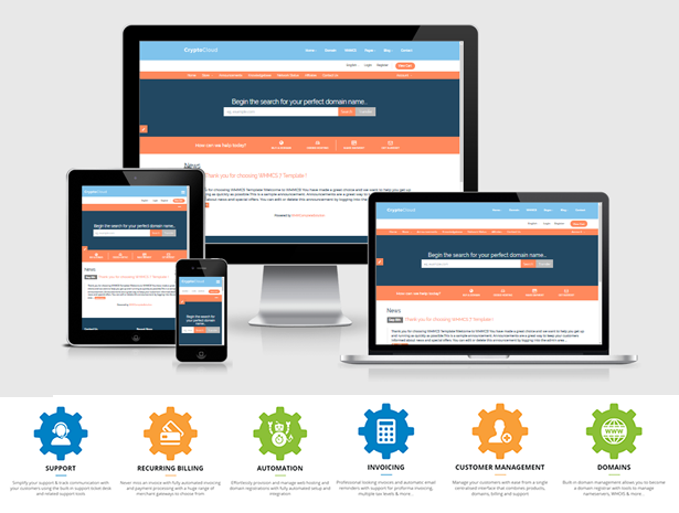 Kripdom – Responsive Web Hosting and WHMCS Themes, Gobase64